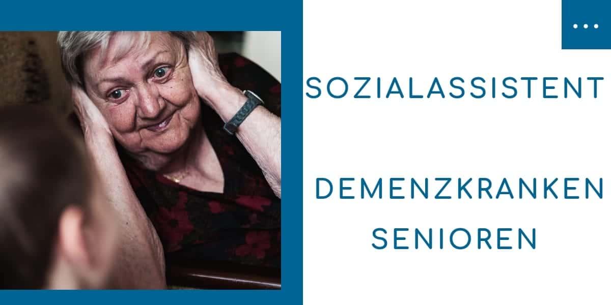 Sozialassistent für Demenzkranken Senioren